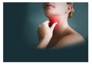 Throat  Problem. Lady Holding Throat