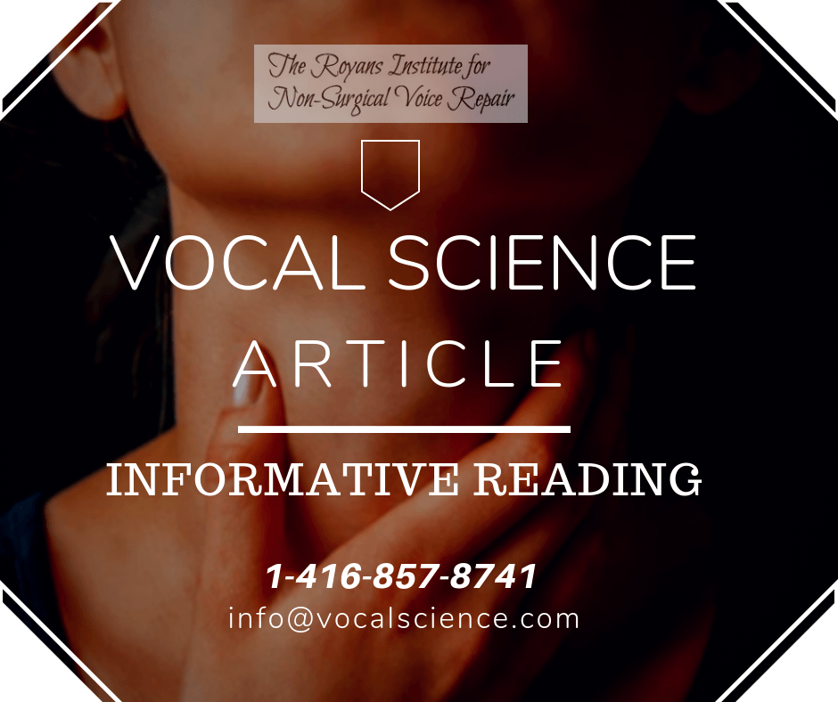 Article: Vocal Problems Due To Surgical Interference.