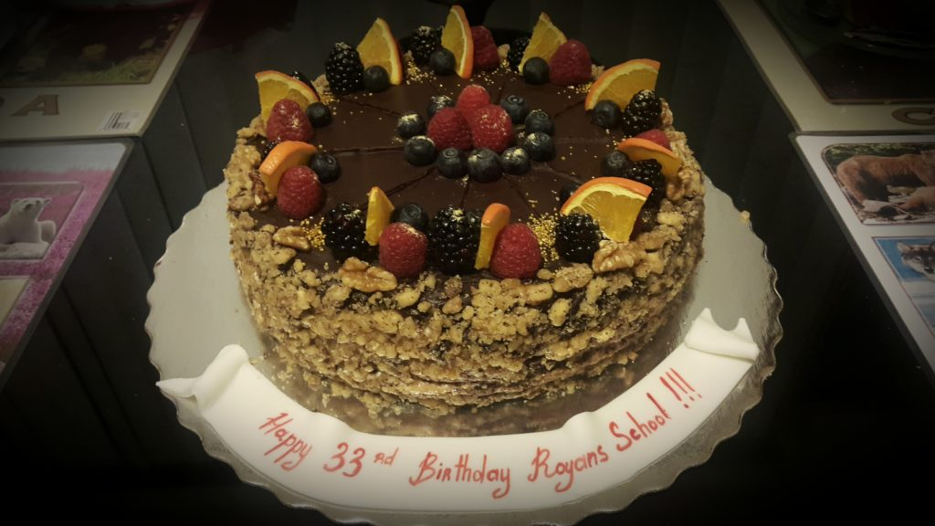 Royans School 33rd Anniversary Cake