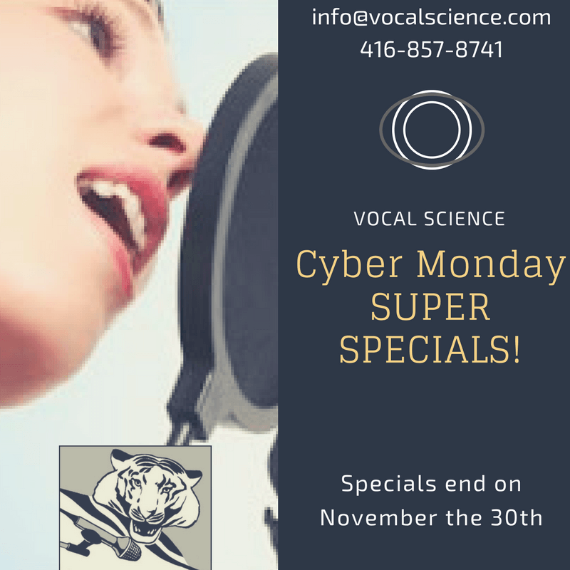 Vocal Science – Cyber Monday Specials!
