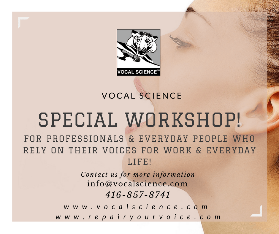 This is a Workshop For professionals & everyday people who rely on their voices for work & everyday life!
