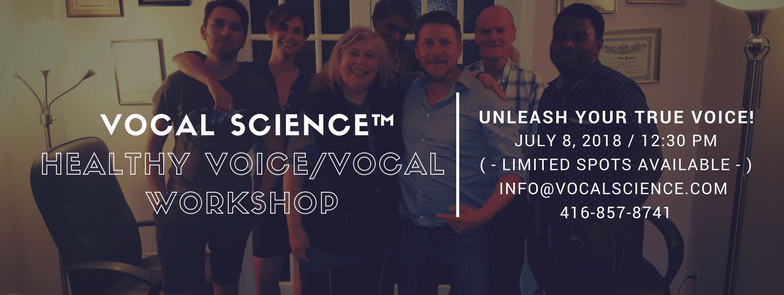(Complete) July 8th healthy Voice/Vocal Workshop!