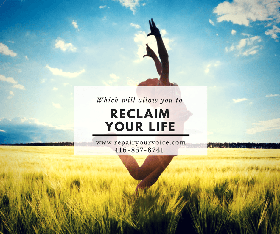 restore your voice - Reclaim Your Life