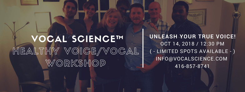 October 14th healthy Voice/Vocal Workshop! – 3 Spot Remaining!