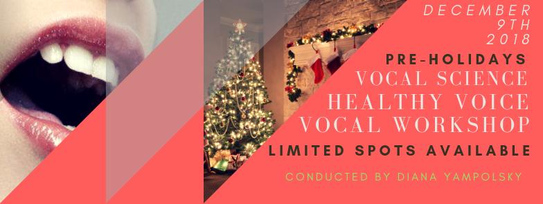 Vocal Science Workshop - December 9th 2018