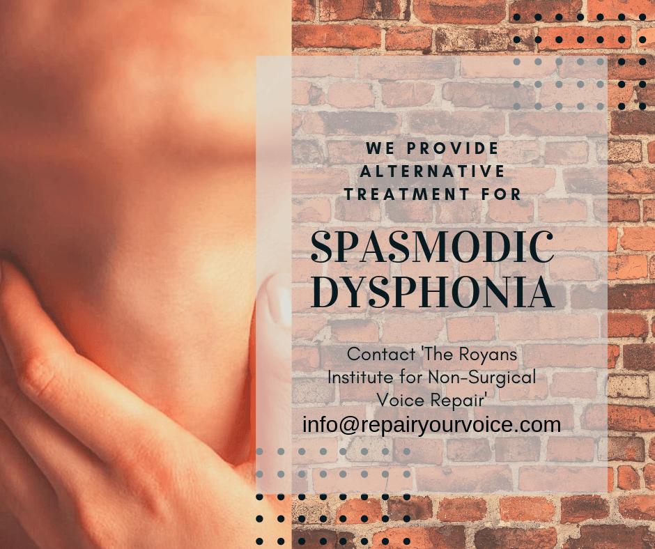 Voice Repair Testimonial from Tanya G, Abductor Spasmodic Dysphonia sufferer – New Zealand.