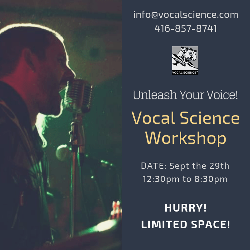 Infomation about the September 29th 2019 Vocal Science Workshop.