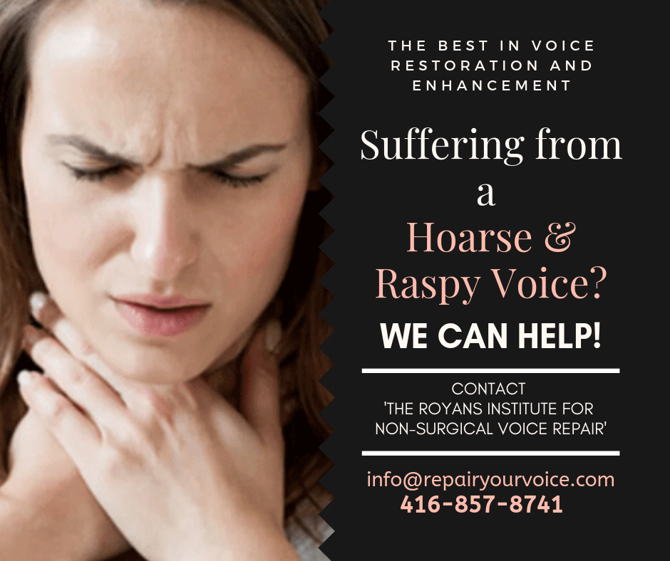 Natural and Alternative Treatment for hoarse and raspy-sounding voices