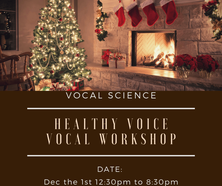 3 Spots left for the December 1st Pre-Christmas Vocal Workshop!
