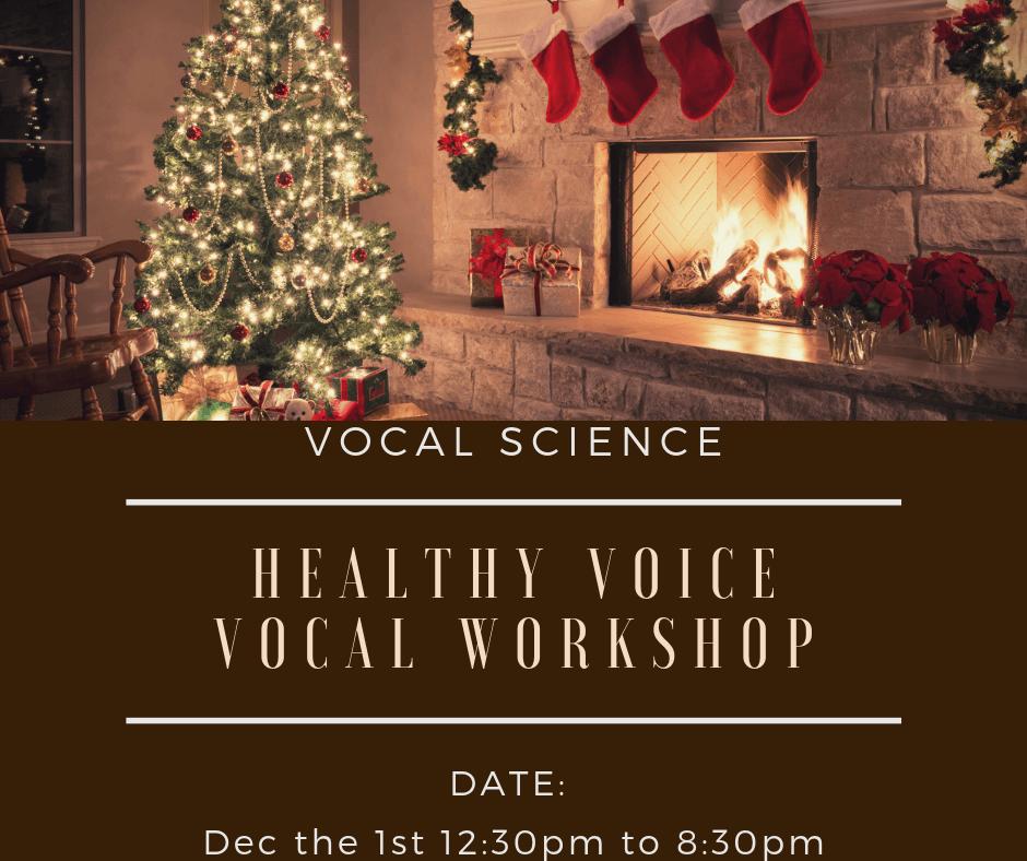 3 Spots left for the December 15th Pre-Christmas Vocal Workshop!