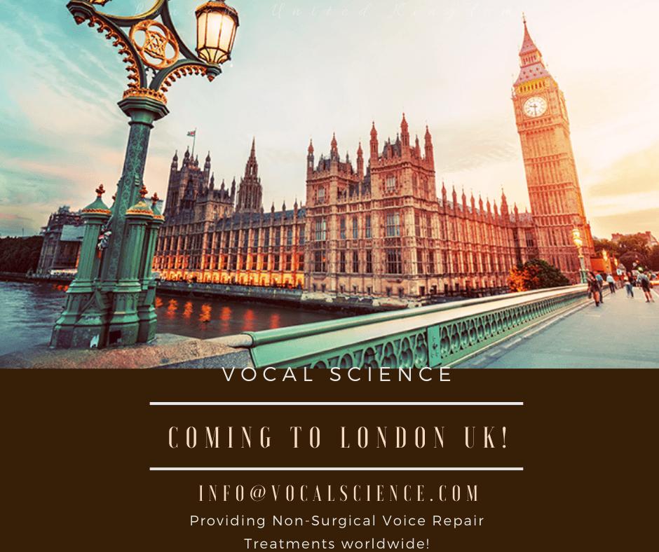 Voice Repair Treatment in London, UK – Nov 21st to Nov 26th, 2019!