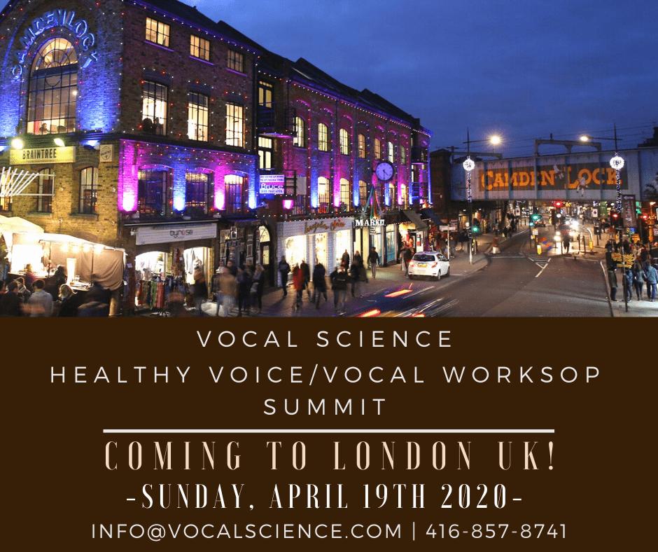 VOCAL SCIENCE 2020 LONDON WORKSHOP