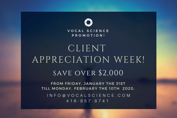 Jan 2020 Promotion: Client Appreciation Week Savings!