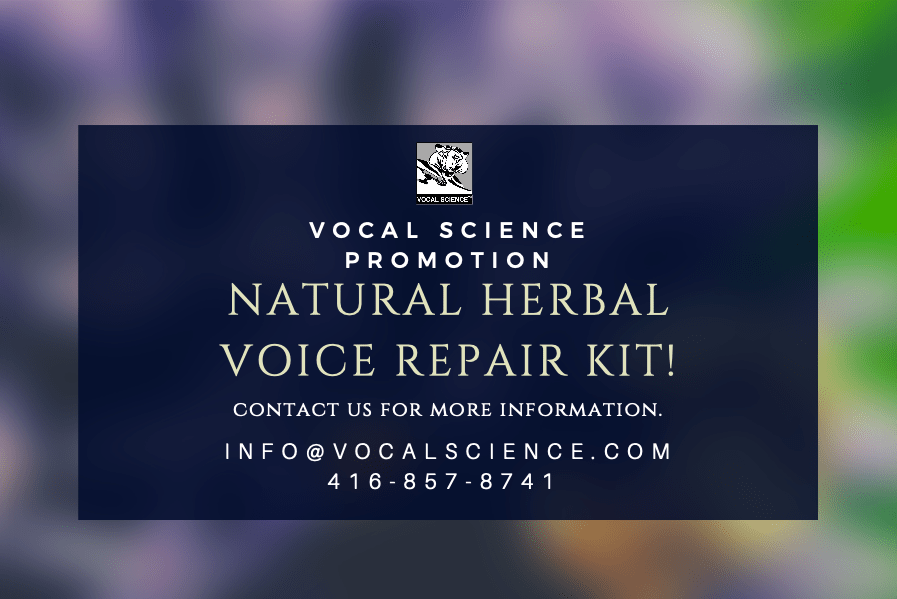 Voice Repair Herbal Kits and Free One-On-One Phone Consultations!